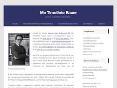 Me Timothée Bauer - avocat à Genève
