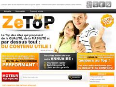 ZeTop les sites sélectionnés du Web